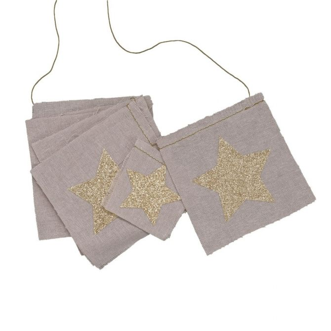 Fancy Garland glitter stars dusty pink - Numero 74