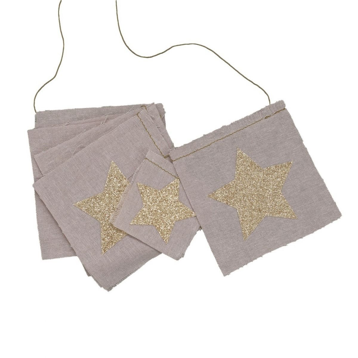 Girlanda Fancy Garland glitter stars brokatowe gwiazdki dusty