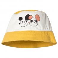 Ritzratz bucket hat yellow - white