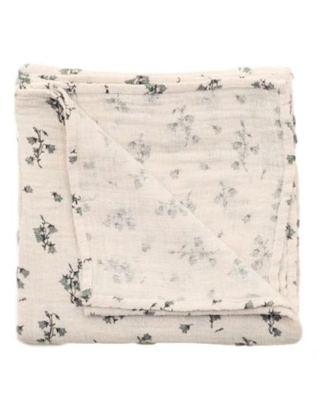 Garbo & Friends Bluebell Musiln Swaddle Blanket ecru