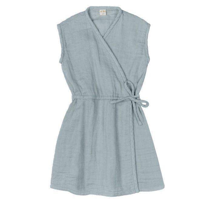 Numero 74 Sukienka Grace zgaszony błękit