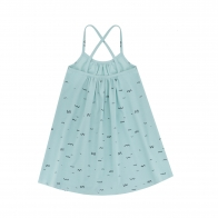 Seagulls Dress Turquoise