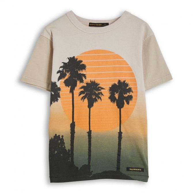 Finger in the nose T-shirt KID Sand Dip Beżowy