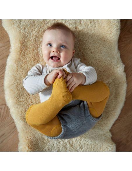 GoBabyGo Crawling tights Mustard