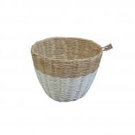 Koszyk rattanowy biały