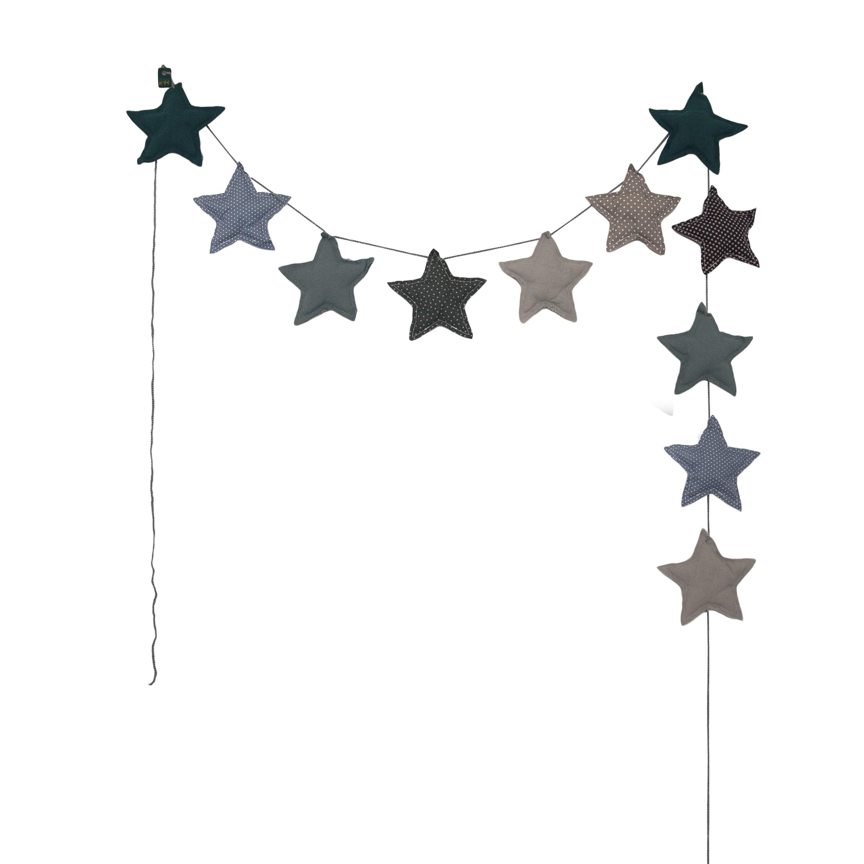 Girlanda Garland Mini Star Małe Gwiazdki mix blue niebieska