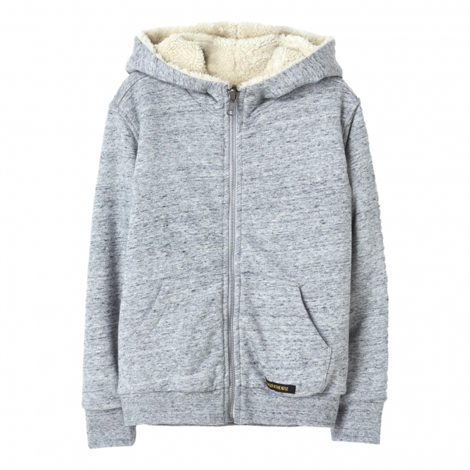 Finger in the nose Hopper Zip Knitted Hoodie gray