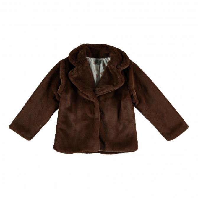 Tocoto Vintage Faux fur coat Brown