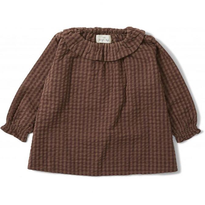 Konges Slojd Charlise Collar Shirt brown