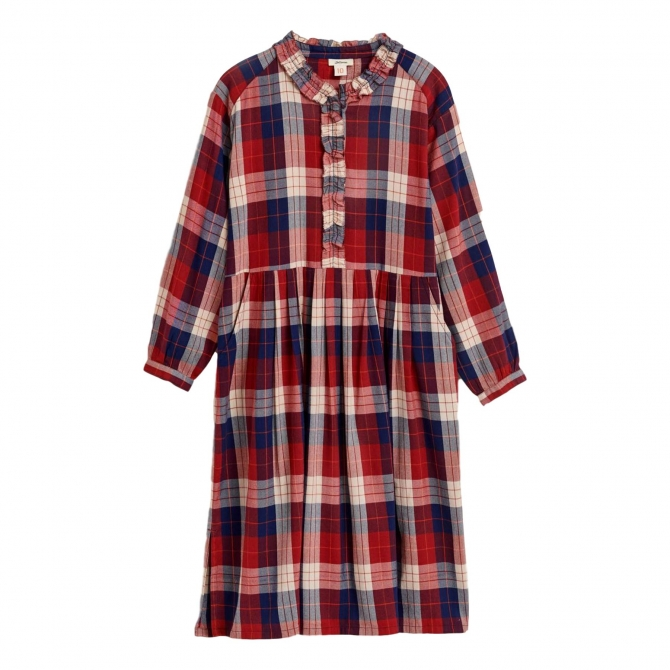 Bellerose Icon Checked Dress red