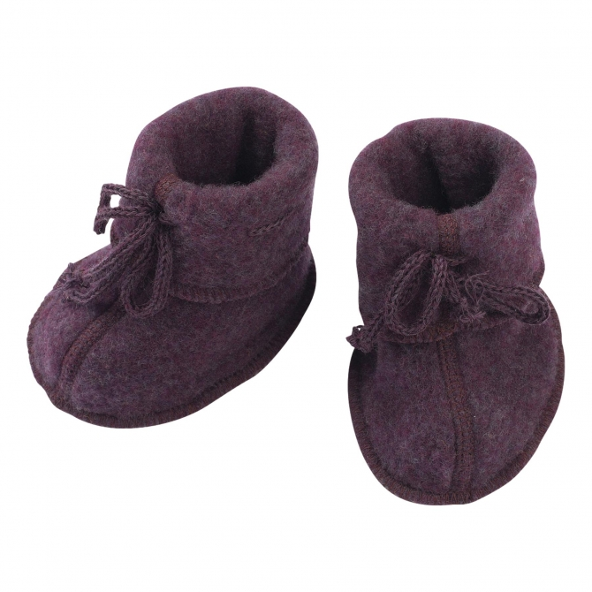 ENGEL Baby-bootees with ribbon purple