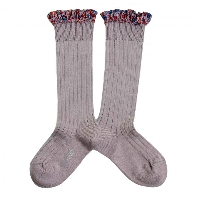 Collégien Knee socks Elisabeth Jour de pluie Silver