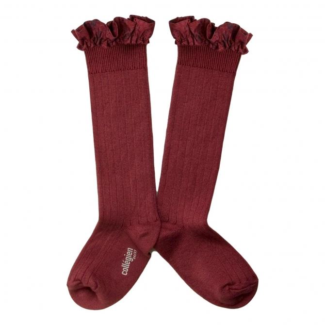 Collégien Knee socks Elisabeth Chataigne Burgundy