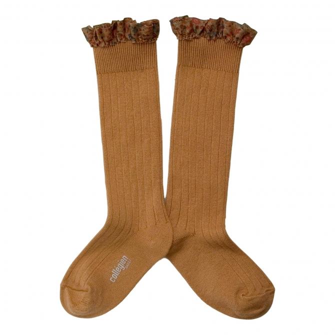 Collégien Knee socks Elisabeth Caramel au beurre Light brown
