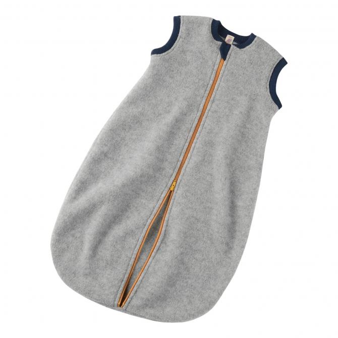 ENGEL Baby sleeping-bag Melange grey with zip