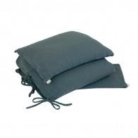 Pościel Duvet Cover Set szaroniebieska