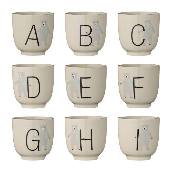 Bloomingville Kubek Annabelle Alphabet