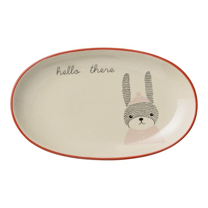 Bloomingville Oval Plate Rabbit nude