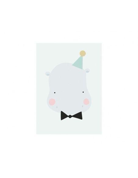 Plakat Happy Hippo - Eef Lillemor