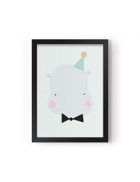 Plakat Poster Happy Hippo - Eef Lillemor