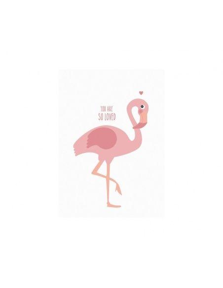 Plakat Poster Flamingo - Eef Lillemor