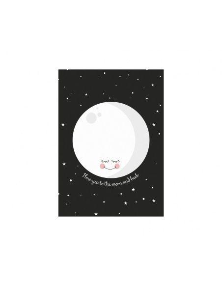 Eef Lillemor Poster Moon Black