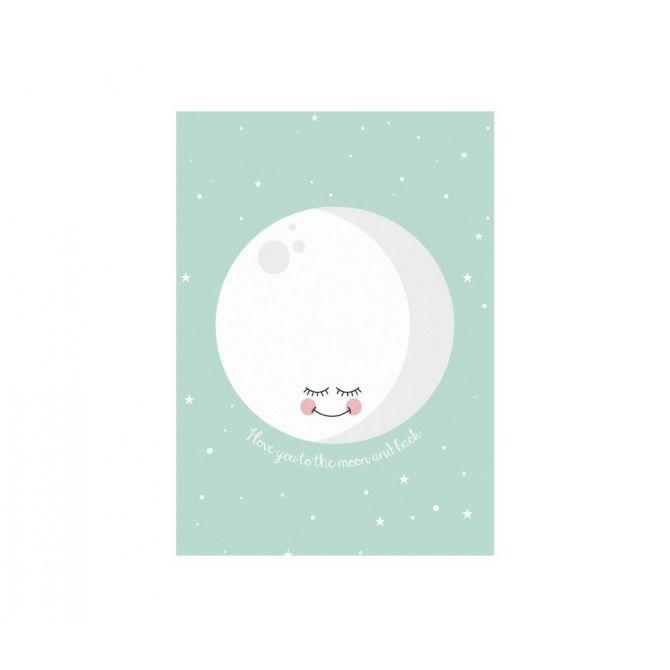 Poster Moon Mint - Eef Lillemor