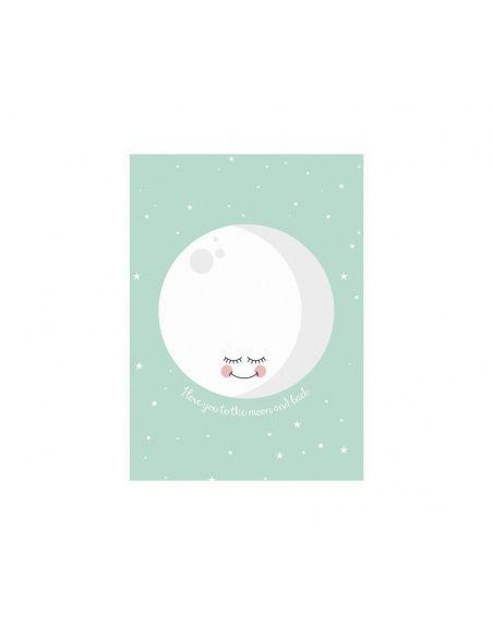 Plakat Poster Moon Mint - Eef Lillemor