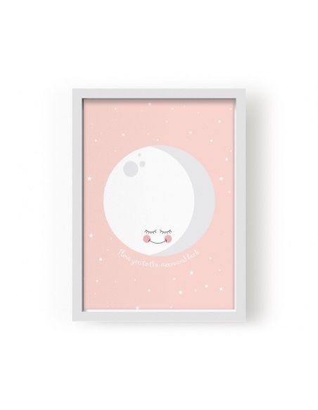 Plakat Poster Moon Pink - Eef Lillemor