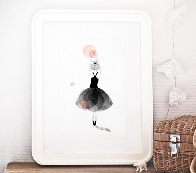 Plakat Poster Ballerine