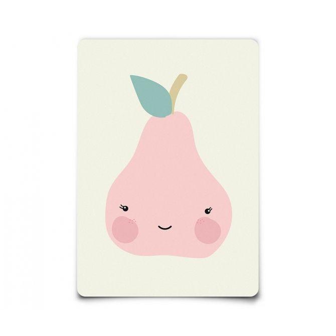 Postcard Miss Pear - Eef Lillemor