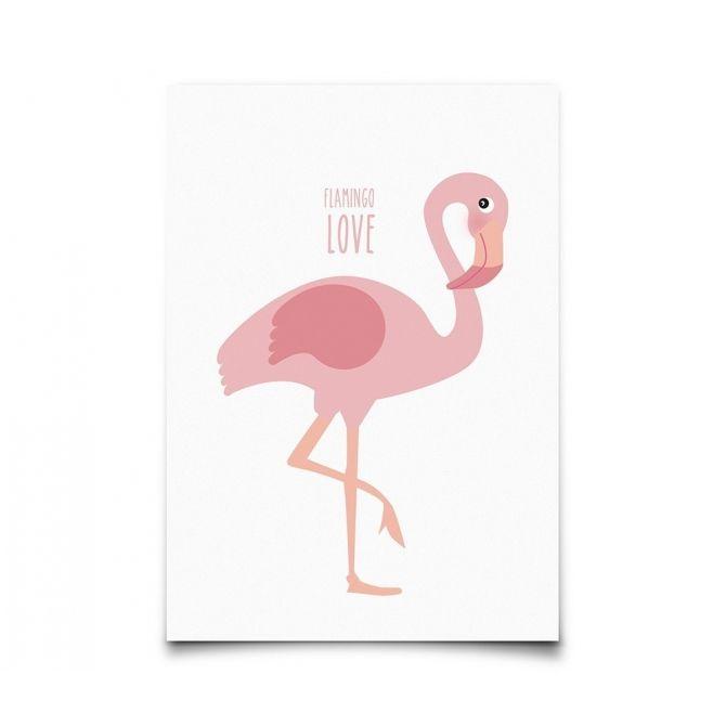 Kartka Postcard Flamingo - Eef Lillemor