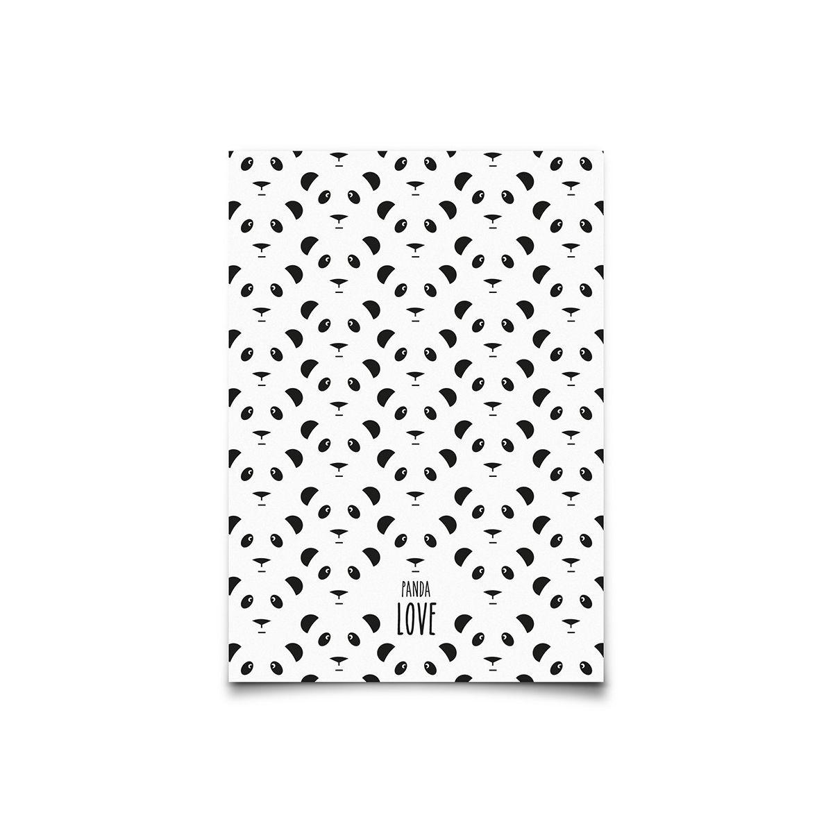 Postcard Panda - Eef Lillemor