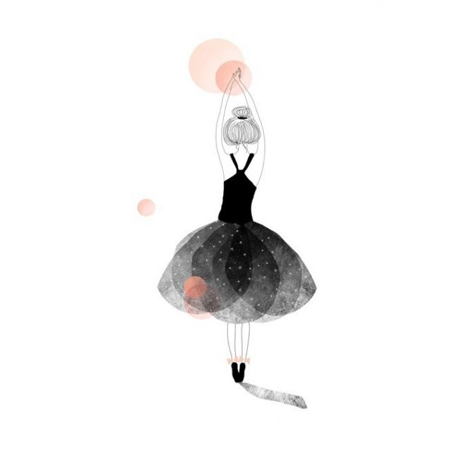 My Lovely Thing Postcard Ballerine