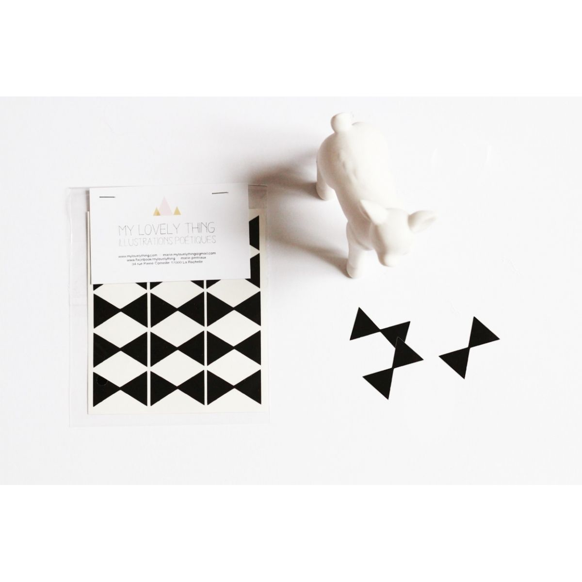 My Lovely Thing Stickers Bow Tie black