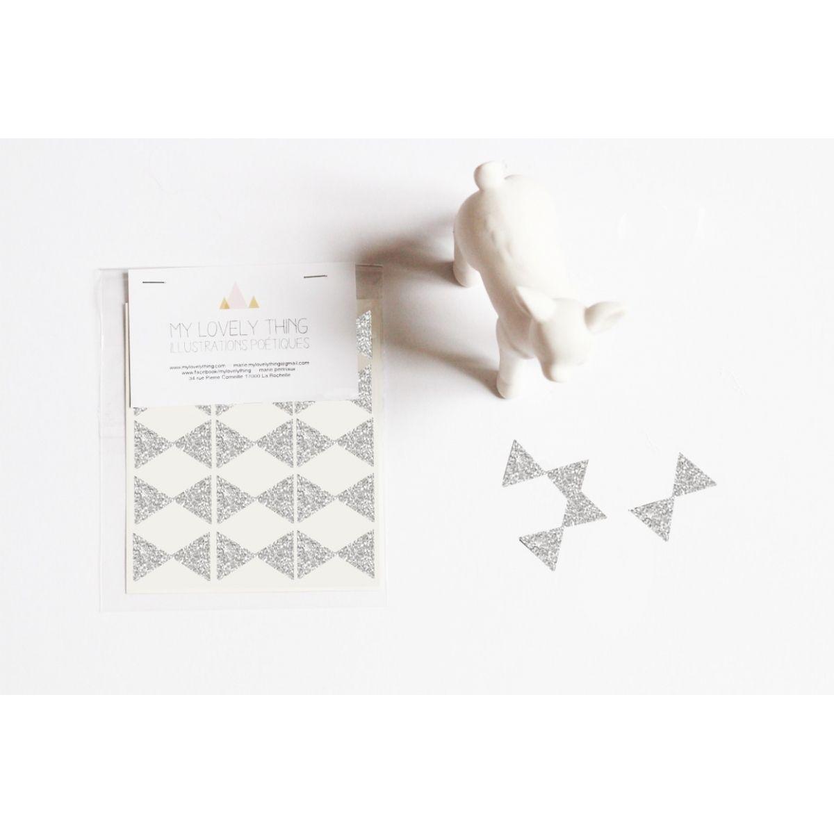 Naklejki Stickers Bow Tie silver kokardka srebrna - My Lovely