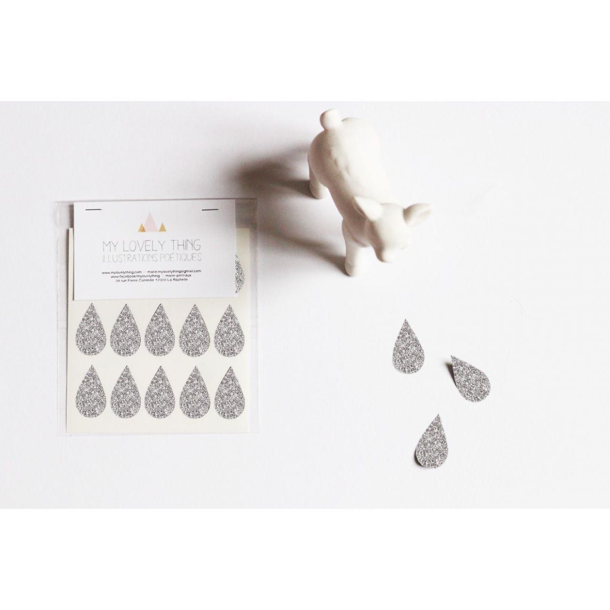 Naklejki Stickers Drop silver kropla srebrna - My Lovely Thing