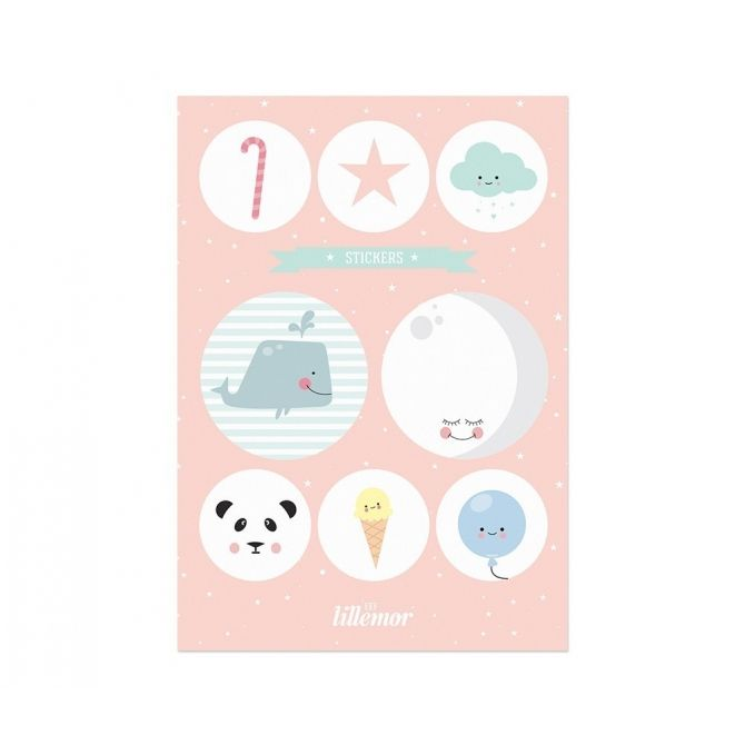 Stickers Set pink - Eef Lillemor