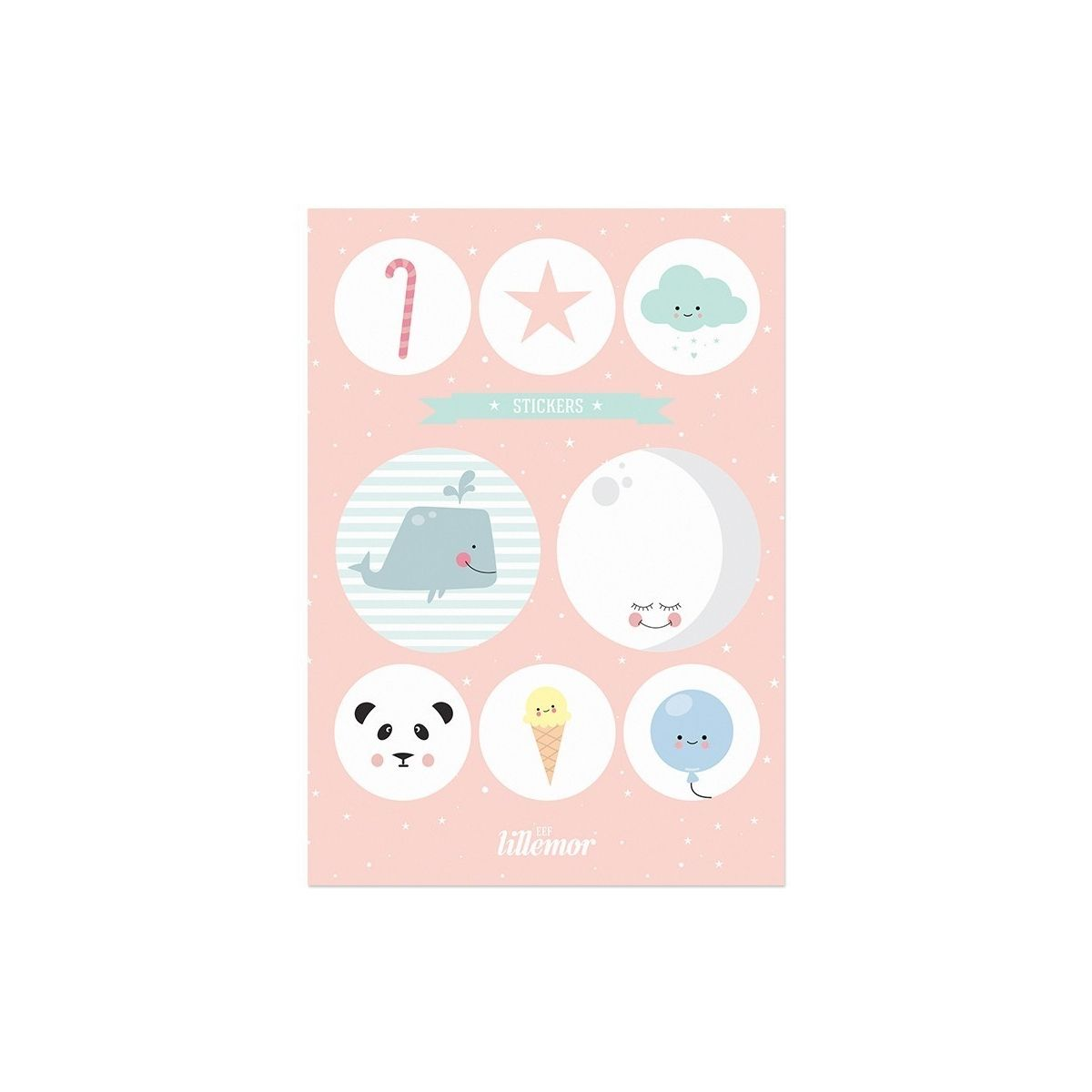 Naklejki Stickers pink set różowe - Eef Lillemor