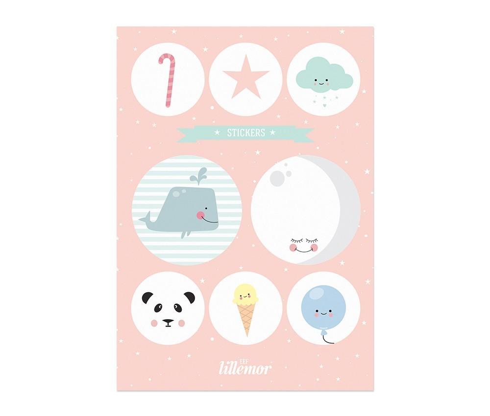 Naklejki Stickers pink set różowe