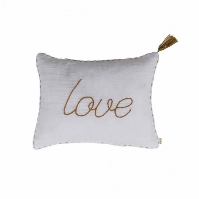 Cushion Message pastel white - Numero 74