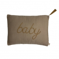 Cushion Message pastel beige
