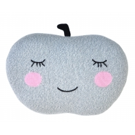 Knit Pillow Apple grey