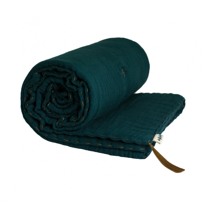 Winter Blanket teal blue - Numero 74