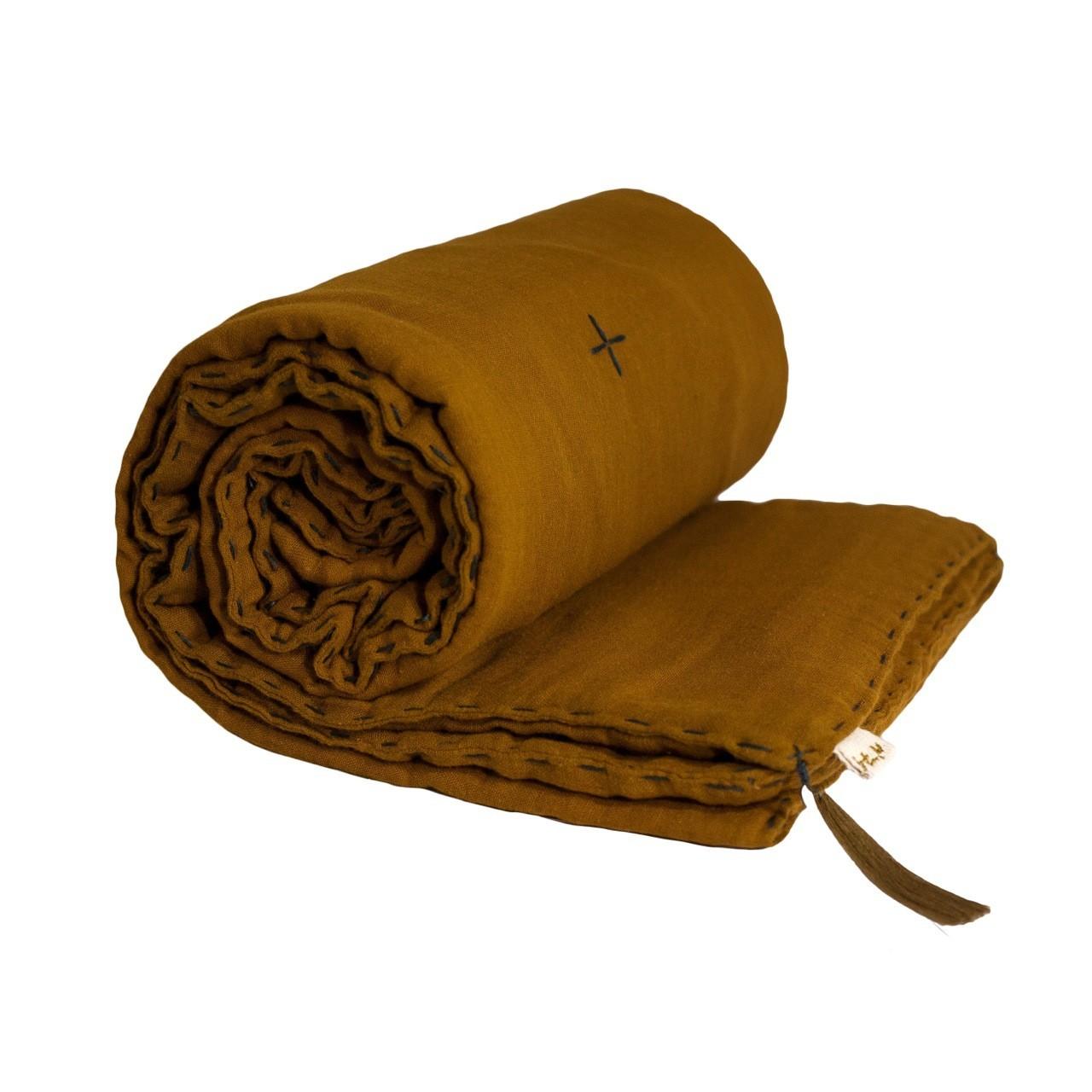 Koc Winter Blanket gold musztardowy