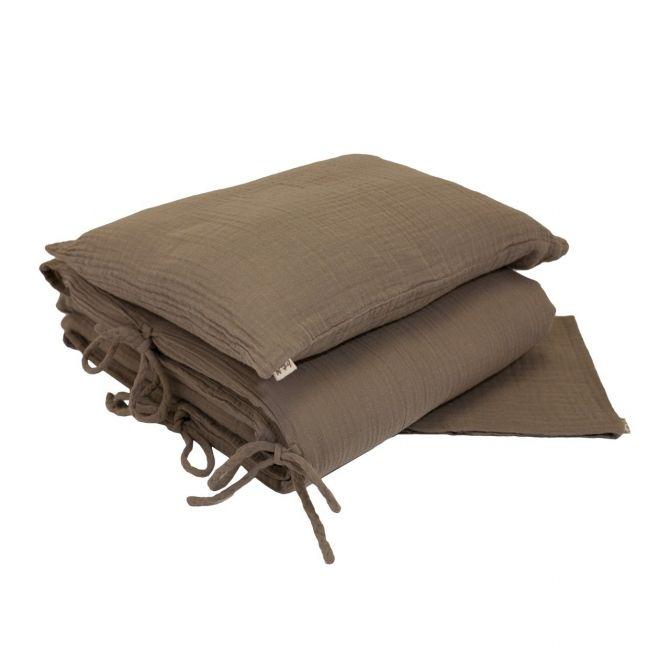 Pościel Duvet Cover Set beige beżowa - Numero 74