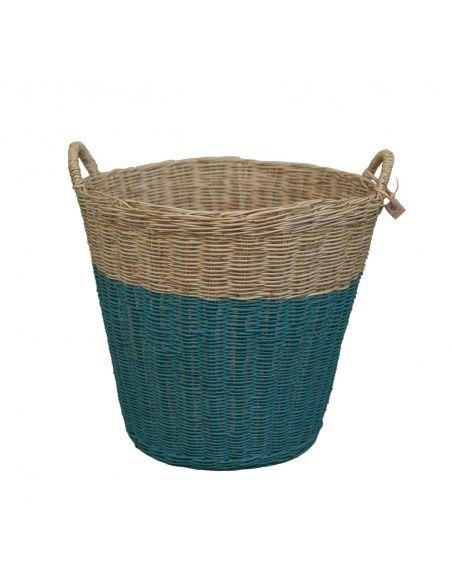 Basket rattan teal blue - Numero 74