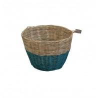 Basket rattan teal blue