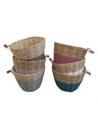 Koszyk Basket rattan rattanowy teal blue ciemny morski - Numero
