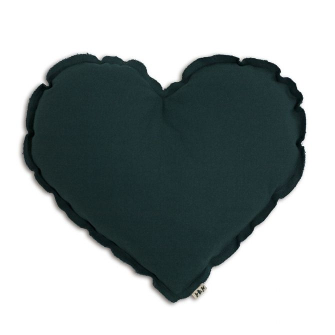 Heart cushion teal blue - Numero 74